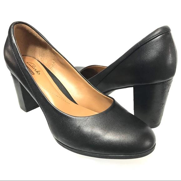 747e4692547a Clarks Shoes - Clarks Women s Black Block Heel Pumps Size 7.5M